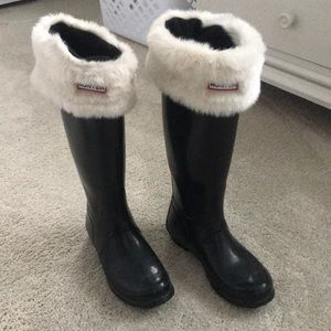 Hunter Rain Boots and Socks! Excellent Condition